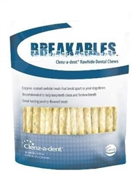 Breakables Clenz-a-dent Rawhide Dental Chews For Small Dogs, 30 Chews