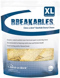 Breakables Clenz-a-dent Rawhide Dental Chews For Extra Large Dogs, 15 Chews