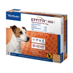 EFFITIX Plus Topical Solution For Dogs 11-22.9 lbs, 3 Month Supply