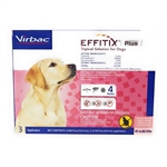 EFFITIX Plus Topical Solution For Dogs 45-88.9 lbs, 3 Month Supply