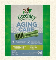 Greenies Dental Treats Aging Care Teenie 27 oz (96 Treats)