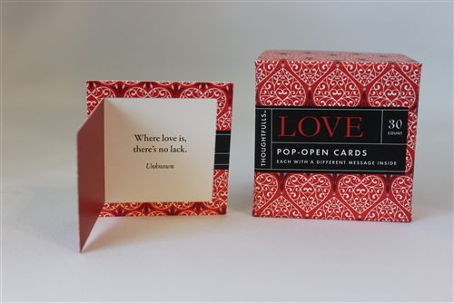 """Love"" Pop Open Miniature Window Cards"