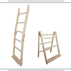 Whitewash 5 Rung LadderRack