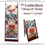 The Ladderack Quilt Ladder Rack in Weathered Black