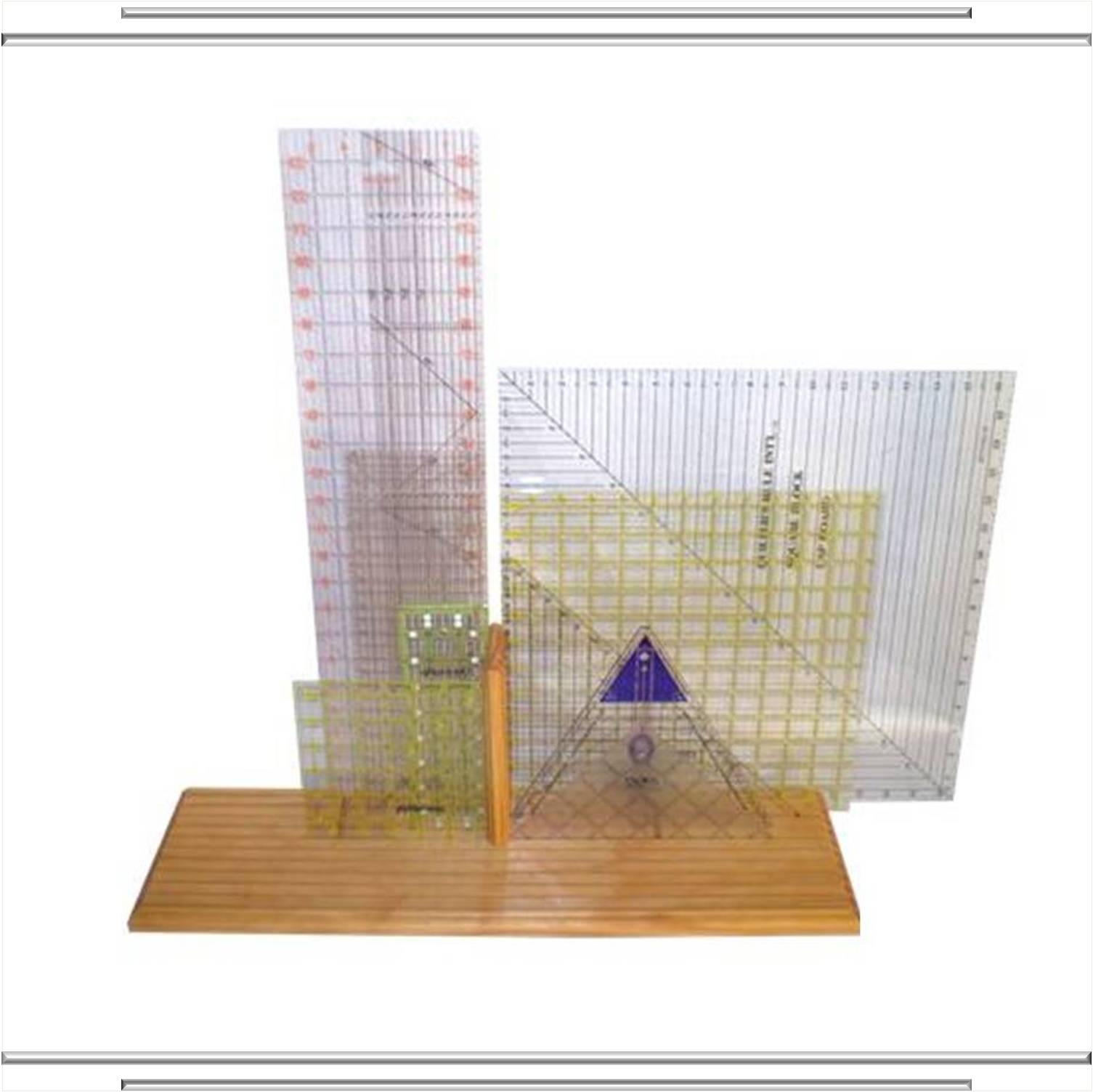 11 Slot No-Tip Tabletop Quilting Ruler Rack : quilt ruler holder - Adamdwight.com