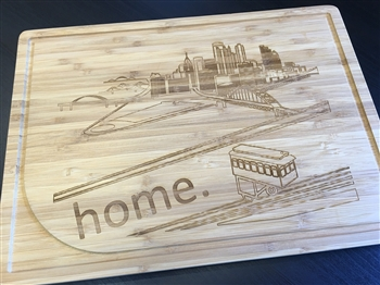 Cutting Board Engraved with Pittsburgh Skyline