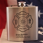 Engraved Fireman Flask
