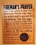 Personalized Fireman's Prayer Plaque