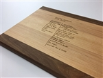 Get your Grandma's favorite handwritten recipe engraved on a cutting board