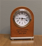Engraved Corporate Desk Clock
