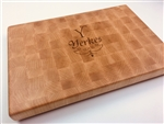 Engraved Maple End Grain Cutting Board