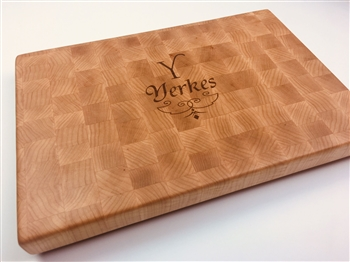 Handcrafted and engraved cutting board