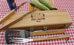 Personalized BBQ Grill Set Engraved