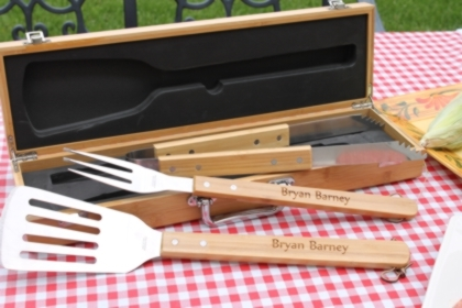 Engraved Bbq Grill Tool Set Personalized Bbq Tools