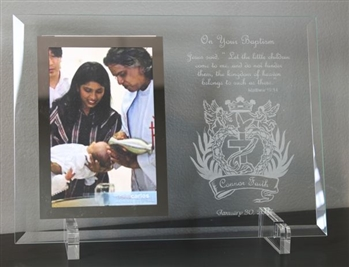 Glass Baptismal Picture Frame