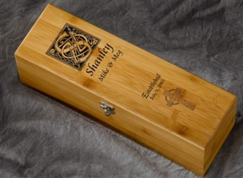 Engraved Personalized Celtic Wine Box