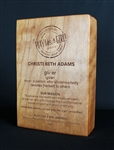"Custom Wood Award 2.5"" thick"