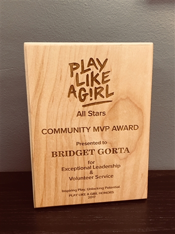 Custom Wood Recognition Award