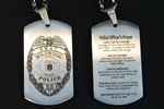 Engraved Police Officer's BadgeDog Tags