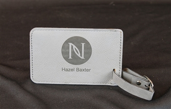 Leatherette Luggage Tag Engraved