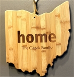 Ohio Shaped Cutting Board