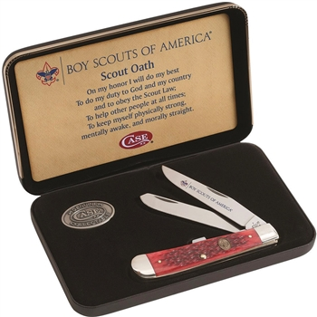Boy Scout Knife Gift Set produced by Case & Sons Cutlery