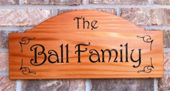 Personalized Redwood Name Plaque