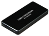 XtremPro USB 3.1 Type-C To Dual NGFF (M.2) SSD Raid Enclosure up to 10 Gbps Data Transfer, 2280, Aluminum alloy, LED for Access & Power - Black (11011)