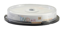 Blank CD DVD+R 16 X 4.7GB 120Min Recordable DVD 10 Pack Storage Media in Spindle