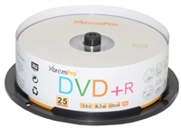 Blank CD DVD+R 16X 4.7GB 120 Min Recordable DVD 25 Pack Storage Media in Spindle