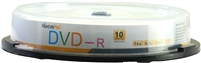 Blank CD DVD-R 16X 4.7GB 120 Min DVD 10 Pack Storage Media in Spindle