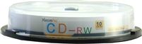 Blank CD CD-RW 12X 700MB 80 Min Recordable CD 10 Pack Storage Media in Spindle