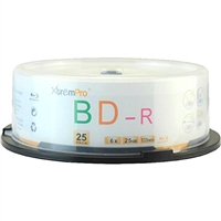 Blank CD BD-R 6X 25GB 135Min Blu-Ray 25 Pack Storage Media in Spindle