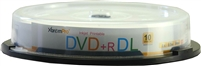 Blank CD DVD+R DL 8X 8.5GB 240 Minutes Recordable With White Inkjet Printable Double Layer DVD 10 Pack Storage Media in Spindle