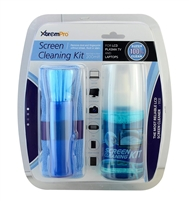 Screen Cleaning Kit 6.8oz / 200ml w/ Microfiber cloth & Anti-Static Brush 3 in 1 for LCD, LED, Plasma TV, Laptop, Computer Screen, iPhone, Smart Phone, iPad, Digital Camera, PSP etc - 11131