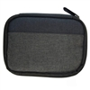 USB Flash Drive Case, Universal Portable Electronic Accessories Organizer Holder, USB sticks, U Disk, SD Memory Cards w/ 6 Mesh Slots External Hard Drive Carrying Bag - Black, Grey (11136)