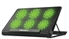 "Laptop Cooler 6 Speed Controlled Fans Ultra Slim Stand W/ 2 USB Ports LED Green Lights 12""-17"" inch Universal"
