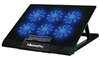 "Laptop Cooler 6 Speed Controlled Fans Ultra Slim Stand W/ 2 USB Ports LED Blue Lights Universal Fits 12""-17.5"" inch"