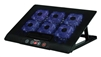 "Laptop Cooler 6 Speed Controlled Switch Fans Slim Stand W/ 2 USB Ports LED Blue Lights Universal Fits 12.5""-17.5"" inch"