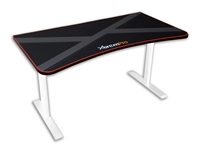 HIGH QUALITY GAMING DESK TABLE WHOLE MOUSE SURFACE PAD TRUE GAMER WORKSTATION (Black & White)