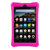XTREMPRO Amazon Fire HD 8 Black Case Protective Silicone Rubber Tablet Cover (11190) PINK