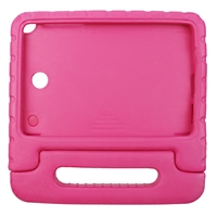 Samsung Tablet IPad Case Galaxy Tab A 8.0 Skin Cover Handheld Protective Silicone Gel with Kickstand handle Pink