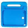 Samsung Tablet IPad Case Galaxy Tab A 8.0 Skin Cover Handheld Protective Silicone Gel with Kickstand handle Blue