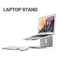 Laptop Stand Aluminum 360???X Rotatable Base Stand, Portable Holder for MacBook Pro, All Notebooks, Silver (22040)
