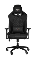 RBG Multicolor Light R1 Gaming Chair Race Style Seat with Lumbar and Pillow Support Black