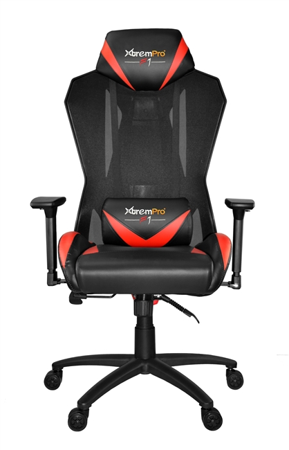 Gaminng Chair F1 MESH SWIVEL GAMING CHAIR (BLACK+RED)
