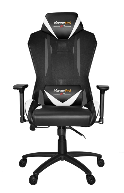 XTREMPRO 22046 F1 MESH SWIVEL GAMING CHAIR (BLACK+WHITE)