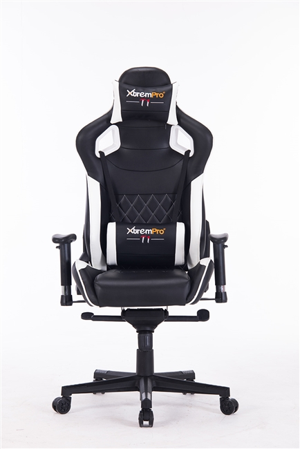 XTREMPRO T1 22048 GAMING CHAIR (BLACK+WITHE)