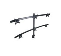 "6 Monitors Desk Mount Bracket 13""- 27"" Inch Adjustable 360° Tilt  w/ Cable management"
