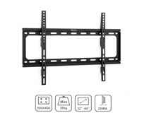 Low-Profile TV Wall Mount Slim Fixed Bracket w/ Magnetic Removable Bubble Level for 32 - 65 in LCD LED 4K Plasma VESA 600x400 Max Load 77 lbs